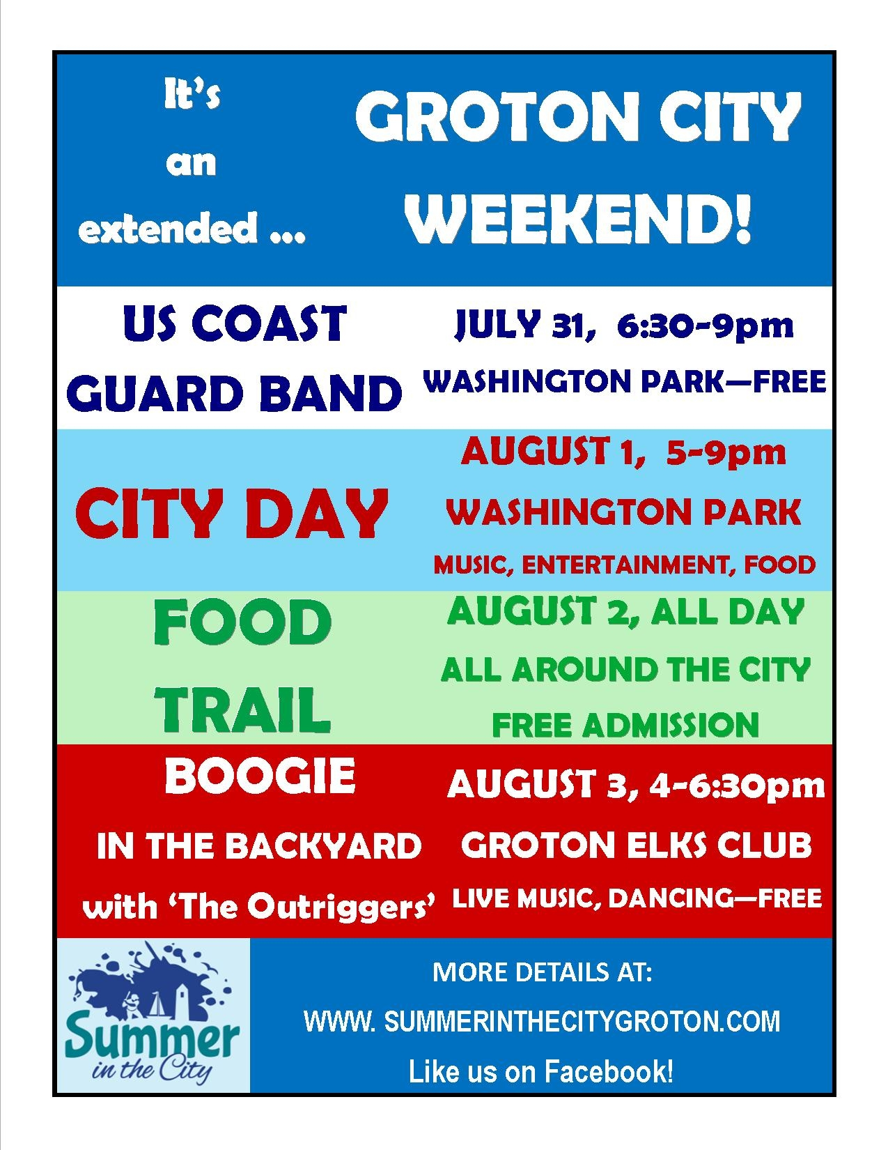 GROTON CITY WEEKEND
