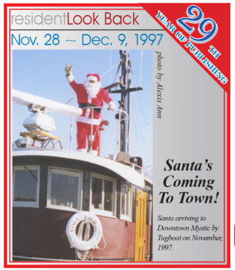 Santa Arriving in Mystic 1997